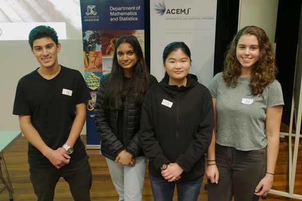 Students from University High School came third in the Problem Solving Competition