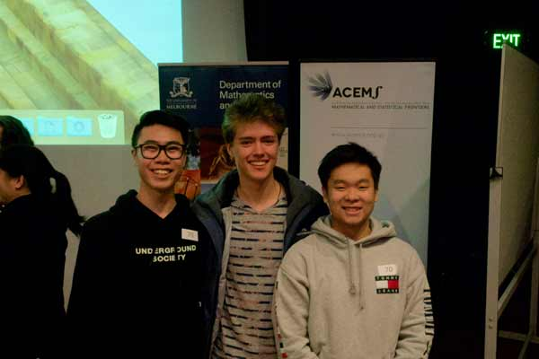 A group of students from University High School came second in the Short Problem solving competition
