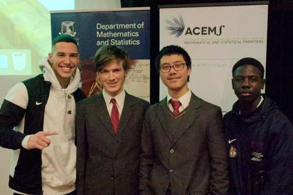 A group of four students from Scotch College won first prize in the Problem Solving Competition