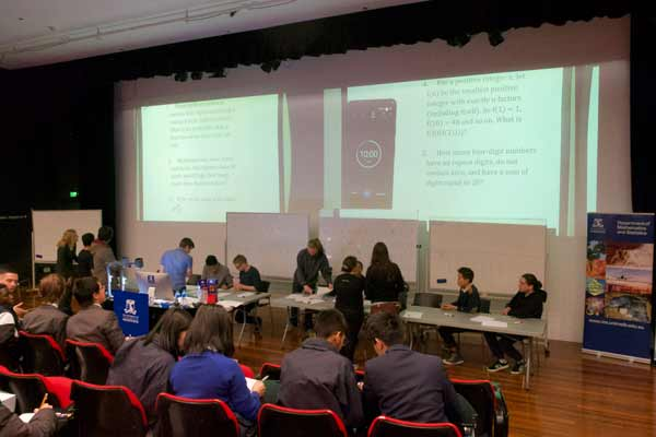The Maths and Stats Student Society runs the Short problem solving competition where they present the questions to the crowd