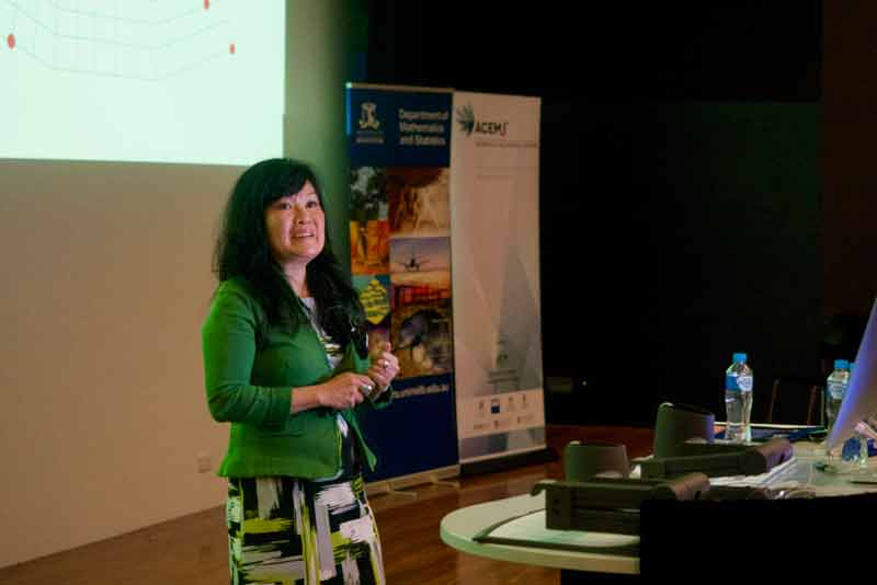 Antoinette talks to students about using maths in her career that has taken her to the US, around Australia and Europe.