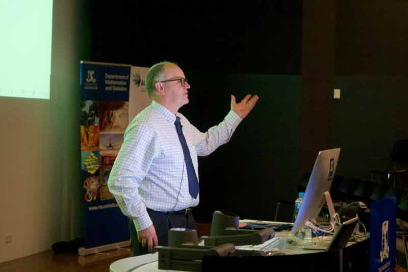 David Balding was a keynote speaker at the 2018 Real World Maths in Action fair and he talks to students about his career.